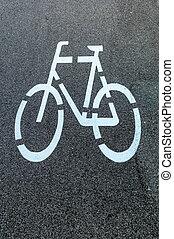 marquer, a, va vélo route