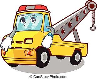 marquer, caractère, remorquage, attente, camion, véhicule