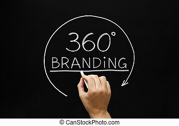 marquer, degrés, 360, concept
