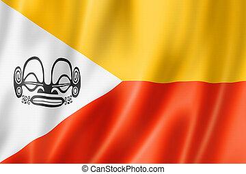 Marquesas Islands flag, French Polynesia