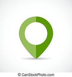 marqueur, carte, vert