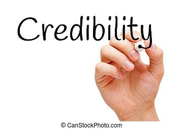 marqueur, crédibilité, noir