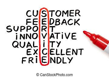 marqueur, diagramme, service, rouges