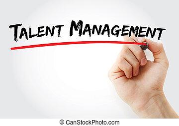 marqueur, gestion, talent, écriture main