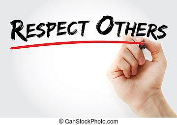 marqueur, respect, autres, écriture main