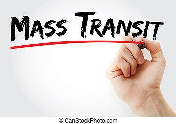 marqueur, transit, main, masse, écriture