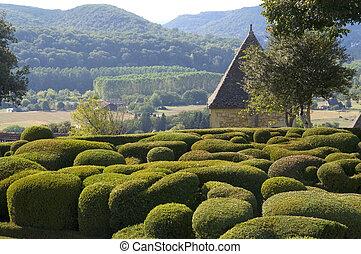 marqueyssac, château, jardins