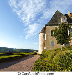marqueyssac, landscaped, gardens, франция