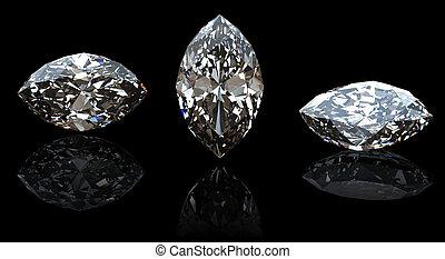 marquis., collections, de, bijouterie, gemmes