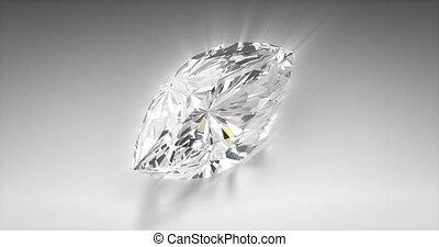 Marquise Cut Diamond - Marquise cut diamond on gray...