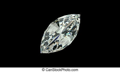 Marquise Cut Diamond - Marquise cut diamond with alpha...