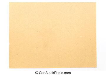 marrón, blanco, papel