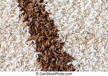 marrón, blanco, raya, alfombra