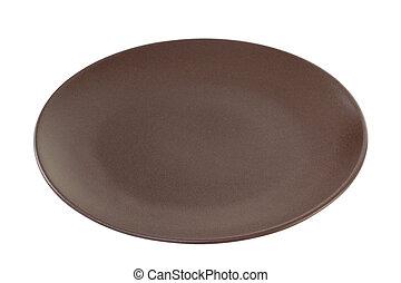 marrón, blanco, Uno, Plano de fondo, placa