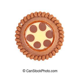 marrón, crema, galletas, filling., chocolate