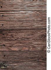 marrón, directamente, de madera, vendimia, tabla, sobre