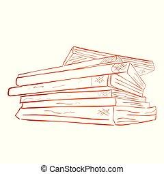 marrón, empate, ángulo, clásico, gradiente, libro, bosquejo,...