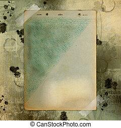 marrón, estilo, antiguo, viejo, resumen, papel, plano de...