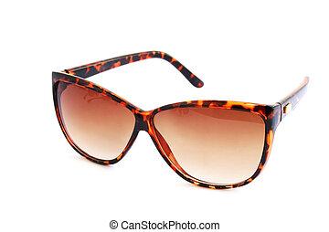 marrón, gafas de sol