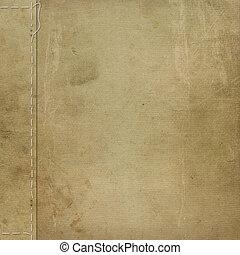 marrón, grunge, cubierta, para, un, álbum, con, fotos