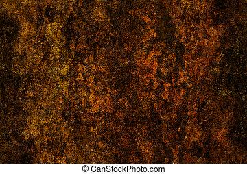marrón, grunge, plano de fondo, superficie