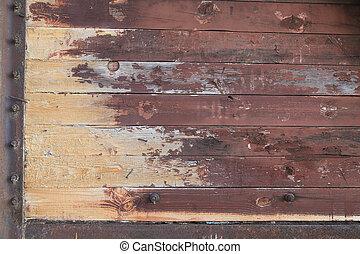 marrón, madera, tablón, tabla, texture.