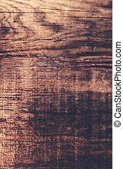 marrón, madera, viejo, texture., resumen, de madera, plano...