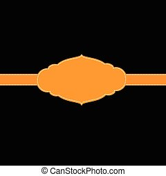 marrón, marco, plantilla, título