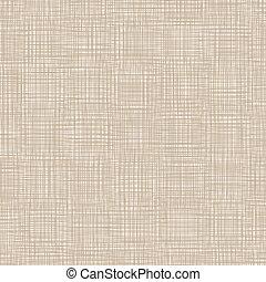 marrón, natural, ilustración, vector, linen., plano de fondo, threads.