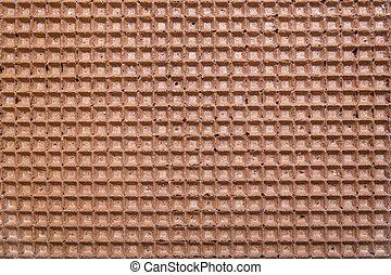 marrón, oblea, plano de fondo, textura, o