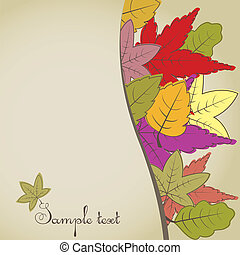 marrón, otoño, background.vector