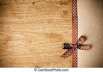 marrón, papel de kraft, cinta, plano de fondo
