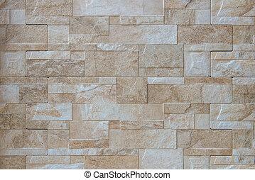 marrón, pared, resumen, plano de fondo, ladrillo, mármol