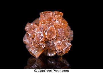 marrón, piedra, mineral, aragonite, negro, curación,...