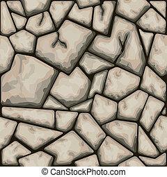 marrón, piedra, seamless, patrón