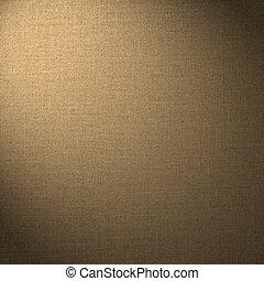 marrón, resumen, lino, plano de fondo
