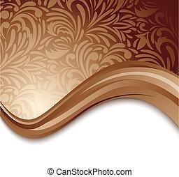 marrón, resumen, plano de fondo