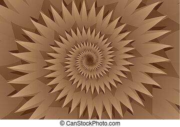 marrón, resumen, vector, estrella, patrón