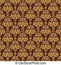 marrón,  seamless, damasco