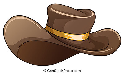 marrón, sombrero