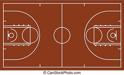 marrón, tribunal baloncesto