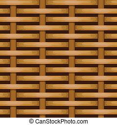 marrón, uso, tejido, plano de fondo, mimbre