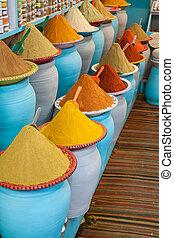 marrakech, gewürz, markt