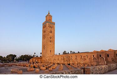 marrakech, meczet, koutoubia