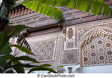 marrakesh, bahia paleis
