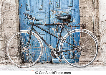 marrakesh, sklep, rower, tradycyjny, dywany, safian, ...
