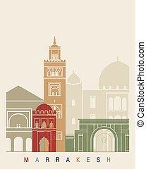 Marrakesh skyline poster