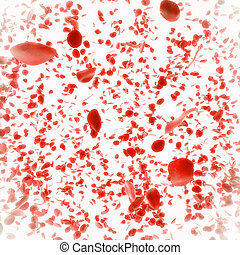 marriage  background with falling red rose petals