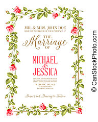 Marriage card. - Marriage invitation card with custom sign ...