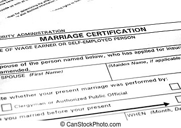 Marriage Certification Form